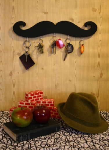Mustache Key Holder.
