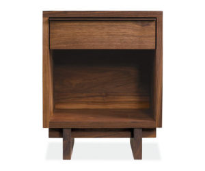 The compact Anders One-Drawer Nightstand