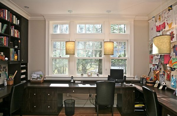 two desk home office. Contemporary Two View In Gallery Throughout Two Desk Home Office F