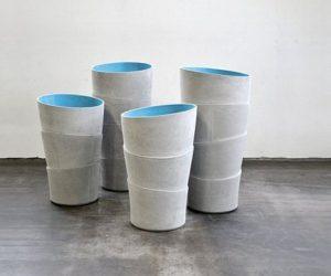 Modern hand-made Palma planters