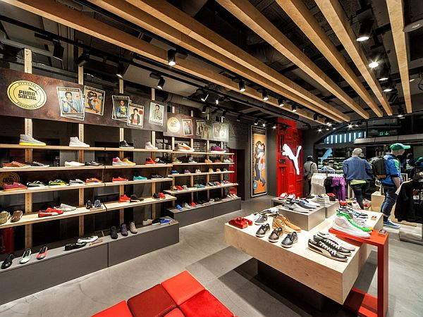 Puma Shop Interior Design In Amsterdam