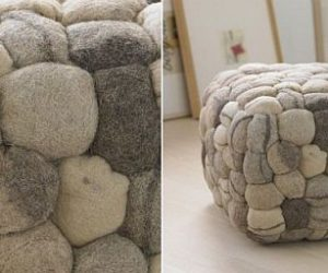 Good Futuristic Fireplace Designs By Elena Colombo · The Soft And Modern Stone  Pouf Ideas