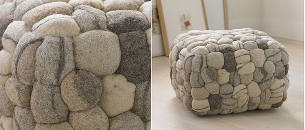 The Soft And Modern Stone Pouf