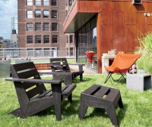 Comfy low lounge outdoor chair