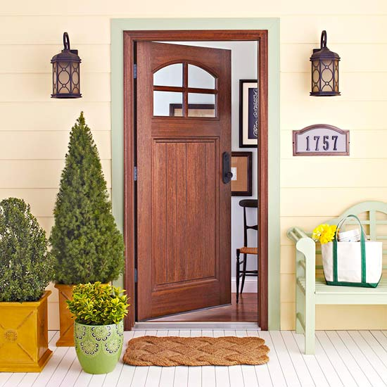 Four inspiring front entry ideas for Small house front door ideas