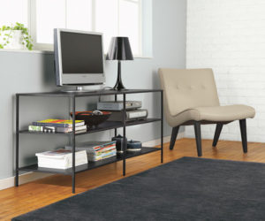 Minimalist and slim media console