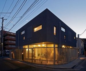 Japanese two-storey apartment building in Tokyo
