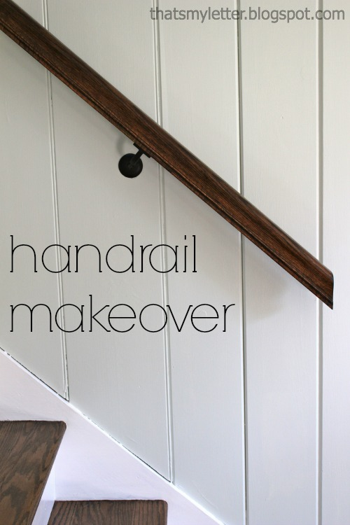 Staircase By Giving The Handrail A Makeover
