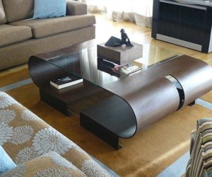 The Elva steel coffee table by Gonzalo de Salas