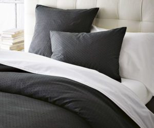 Black Swiss Dot Duvet Cover + Shams