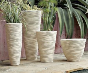 Textured stone planters for your mini-garden