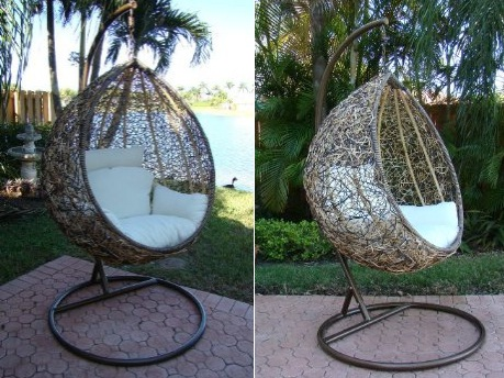 the trully outdoor wicker swing chair. Black Bedroom Furniture Sets. Home Design Ideas