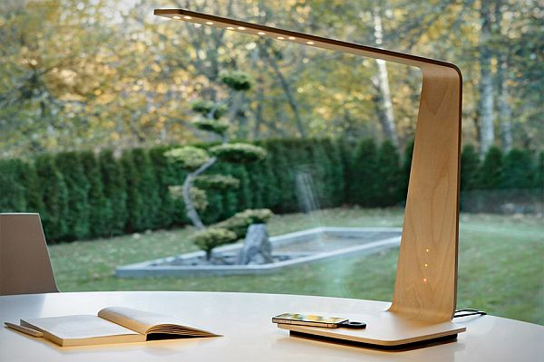 Tunto Powerkiss Lamp Made From Wood