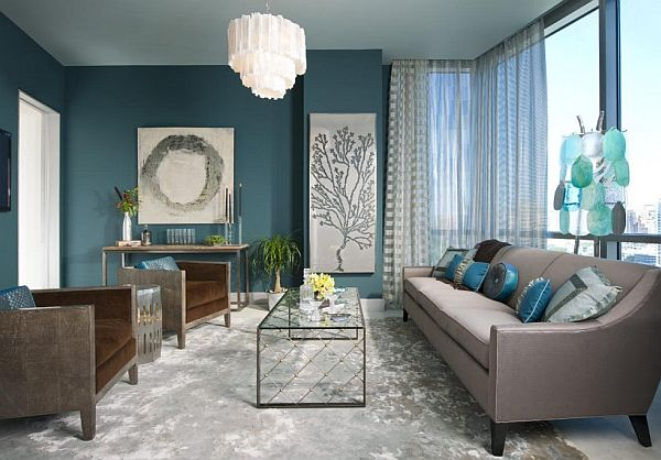 turquoise and gray living room turquoise interior design inspiration rooms 19676