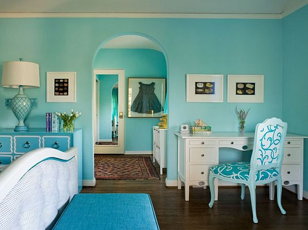 aqua color bedroom turquoise interior design inspiration rooms 10089