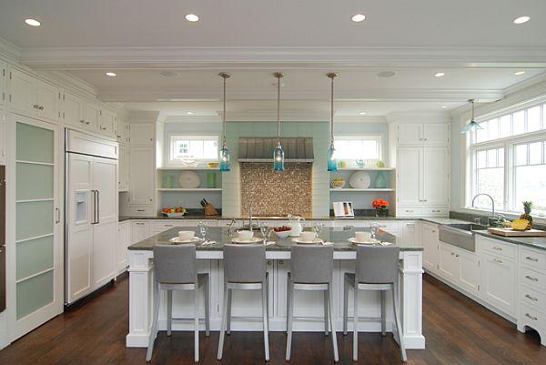 Turquoise Light Filled Kitchen Interior Design