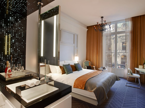 W paris op ra traditional boutique hotel for Hotel design paris 6