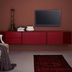 The Modular TV HI FI Wall Mounted Cabinet