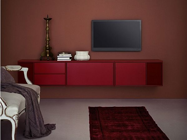 The Modular TV HI FI Wall mounted Cabinet