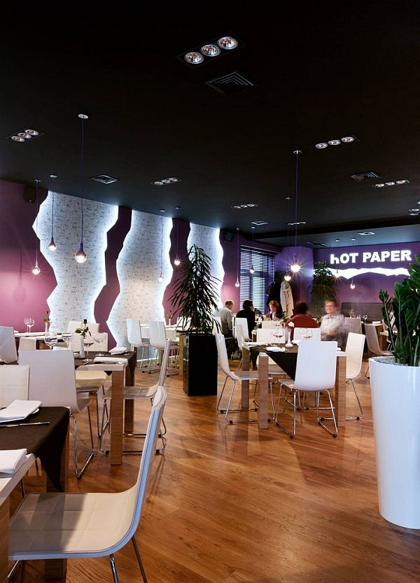 Restaurant Interior Vestibule : Hot paper restaurant interior design in poland