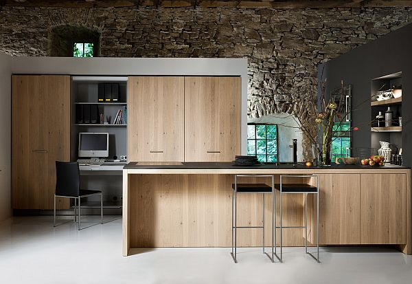 The living kitchen, a combination between rustic and modern