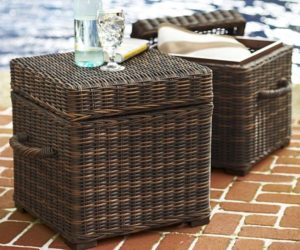 Torrey All-Weather Wicker Cube For Outdoor