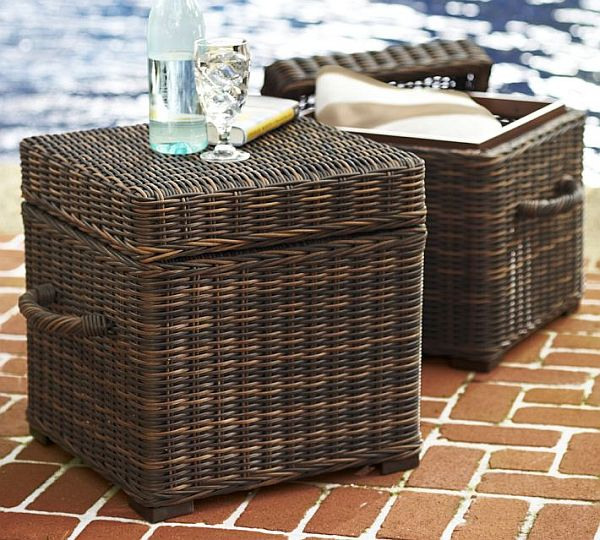Torrey All Weather Wicker Cube For Outdoor