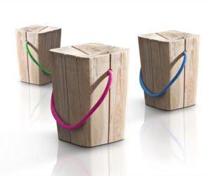 Hug Wooden Stool