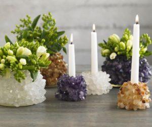 Quartz Candleholder and Vase