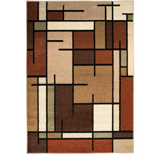 Orian Multicolor Block Area Rug