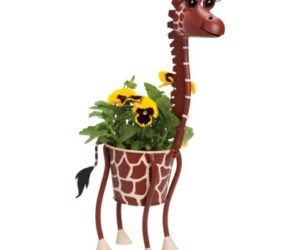 Awesome Recycled Plastic Outdoors Planter · Mini Giraffe Animal Planter Home Design Ideas