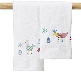 2 Easter Chickens Hand Towels