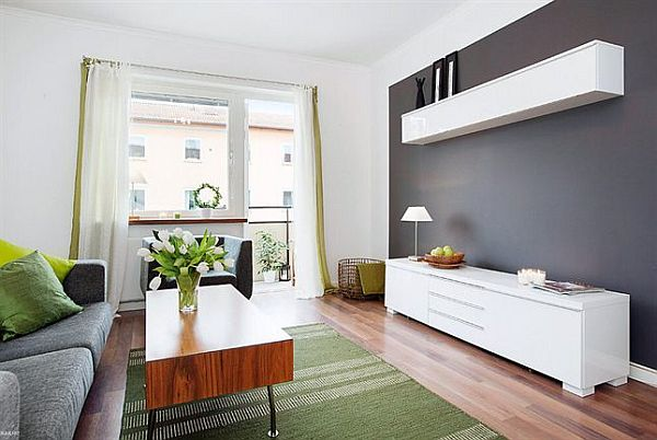 Stylish small flat with lots of storage space