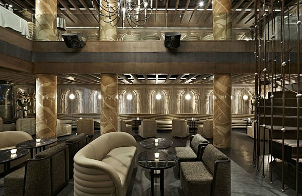 Luxurious anjelique restaurant interior design