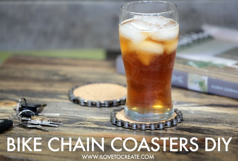 Bike chain coasters
