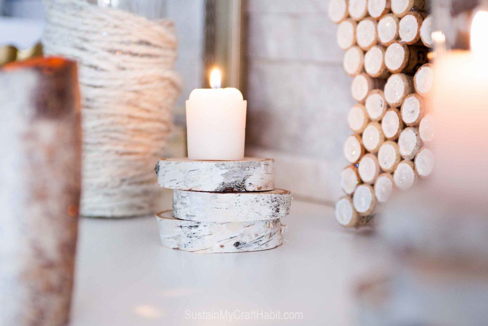 Birch bark votive