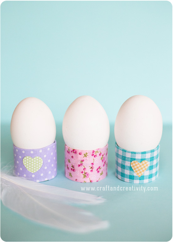 Colorful eggs holder
