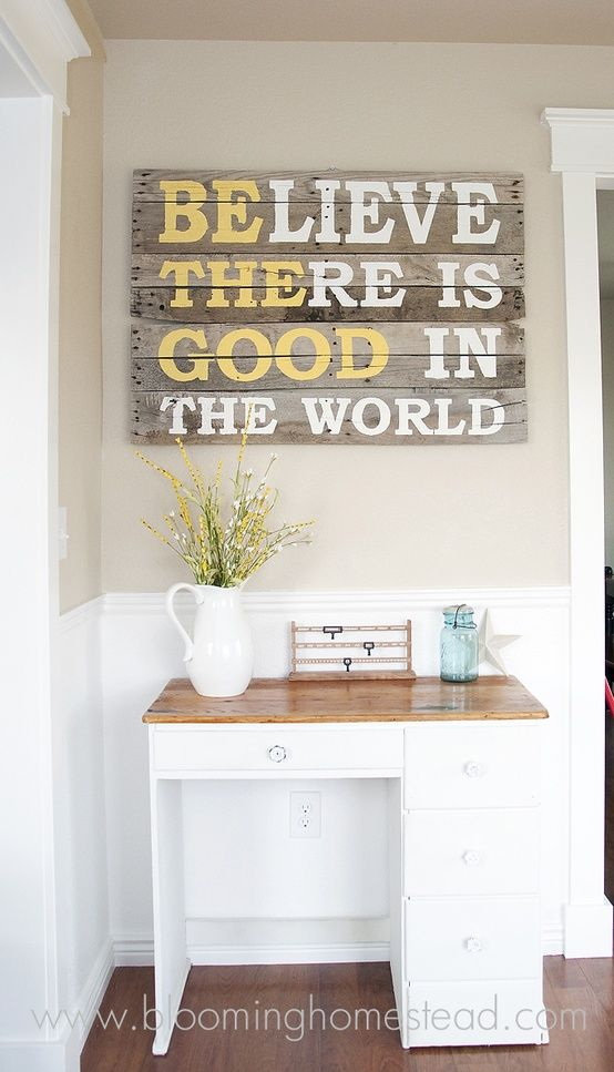 DIY Pallet Wood Sign Ingenious Wall Art