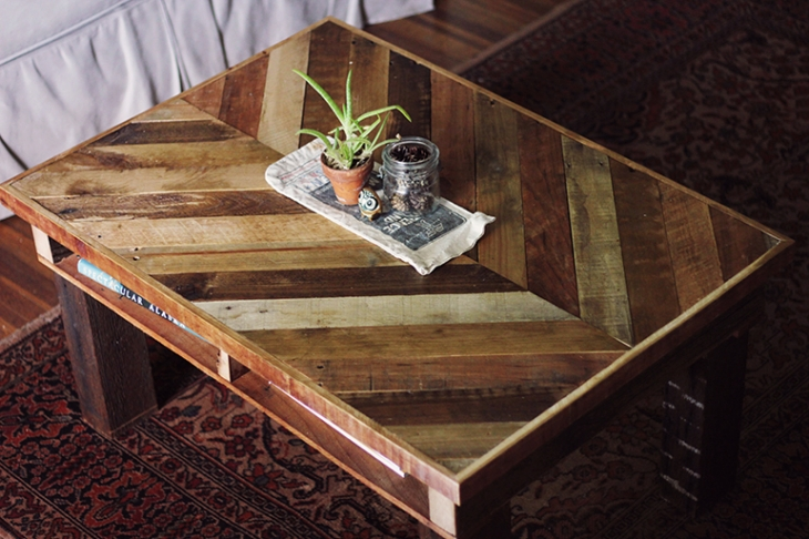 Lovely DIY Coffee Table From Recycled Pallets