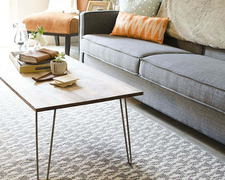 DIY hairpin coffee table