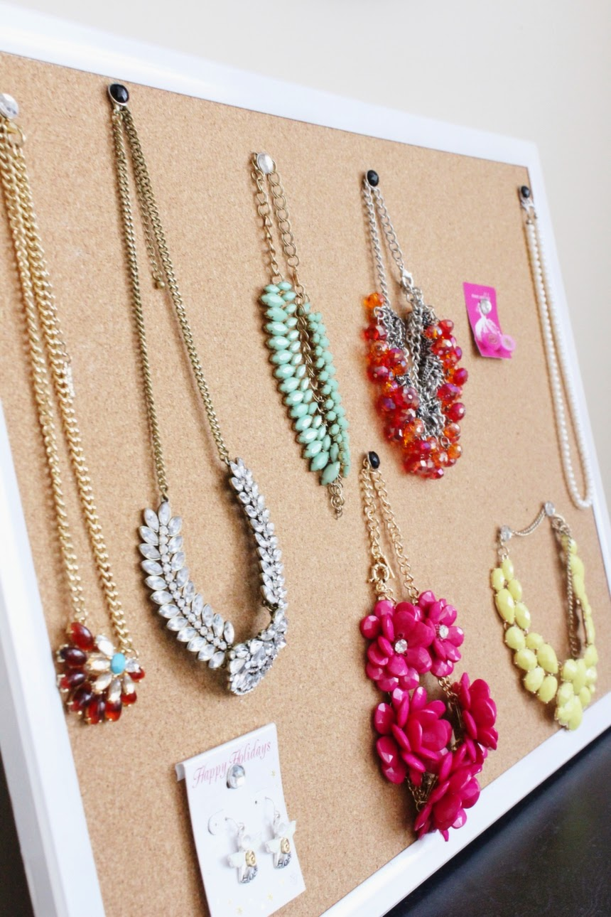 DIY necklace and jewelry holder