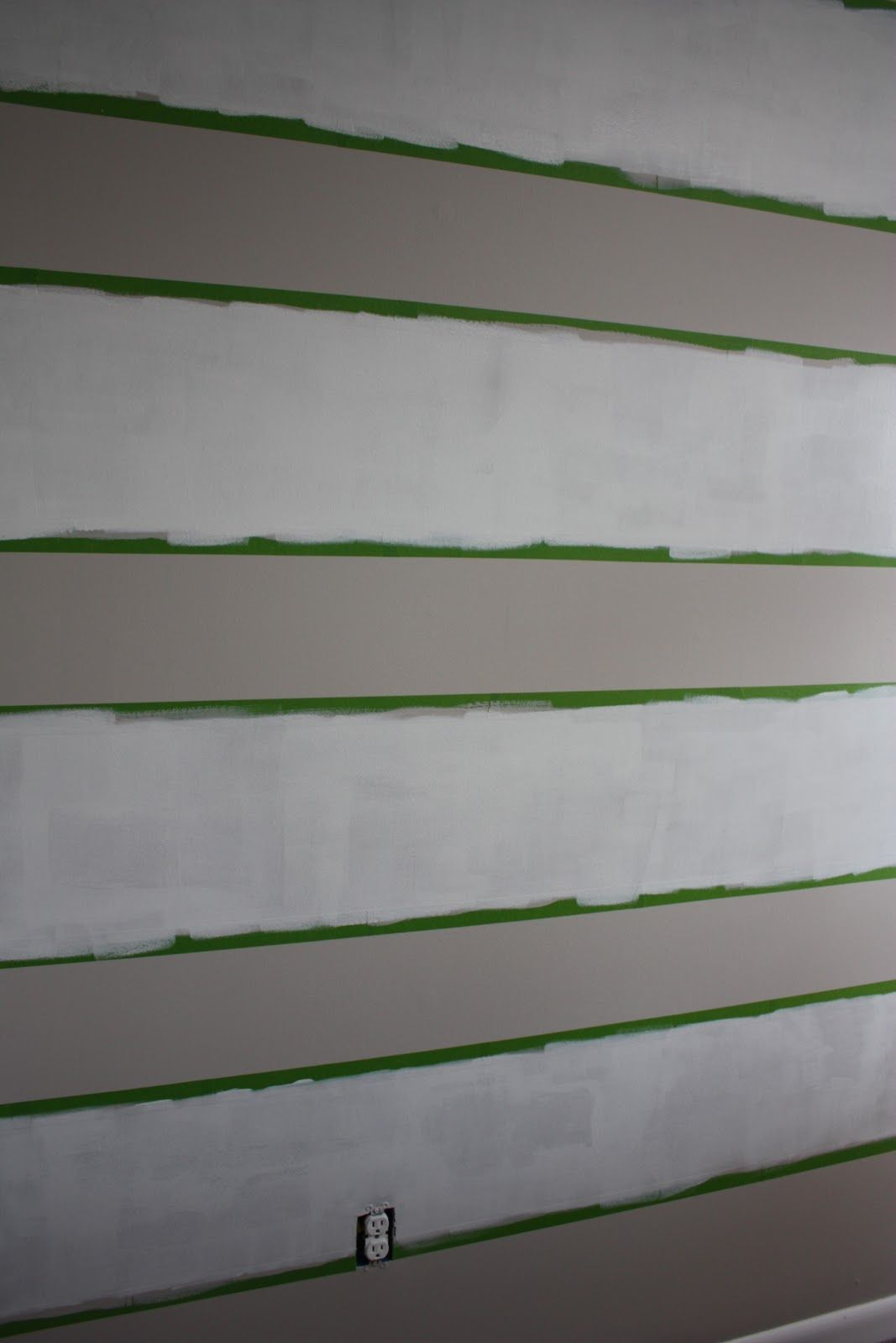 Decide how many stripes you want for nursery wall
