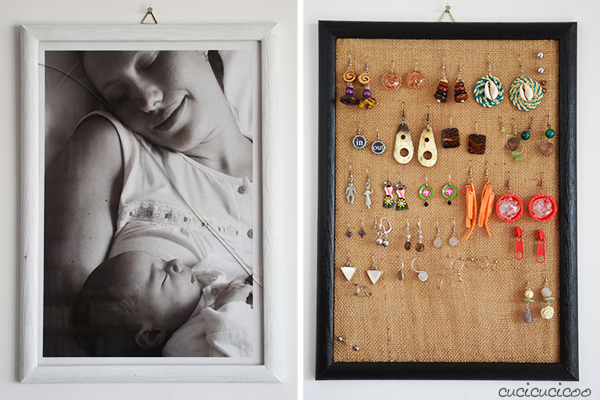 Earings frame holder