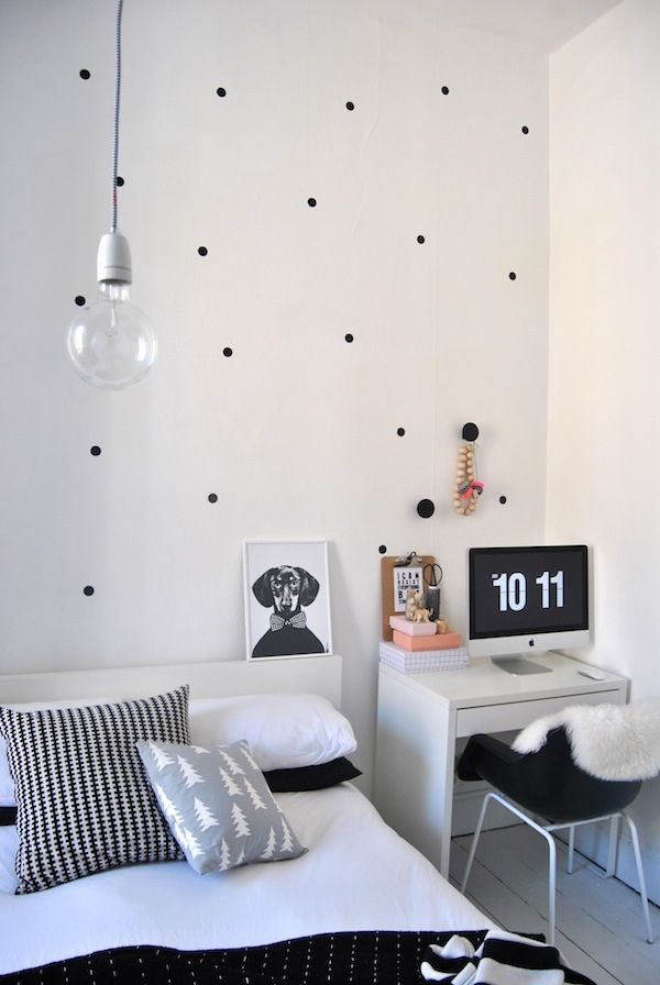 Elegant way to decorate the wall - are dots
