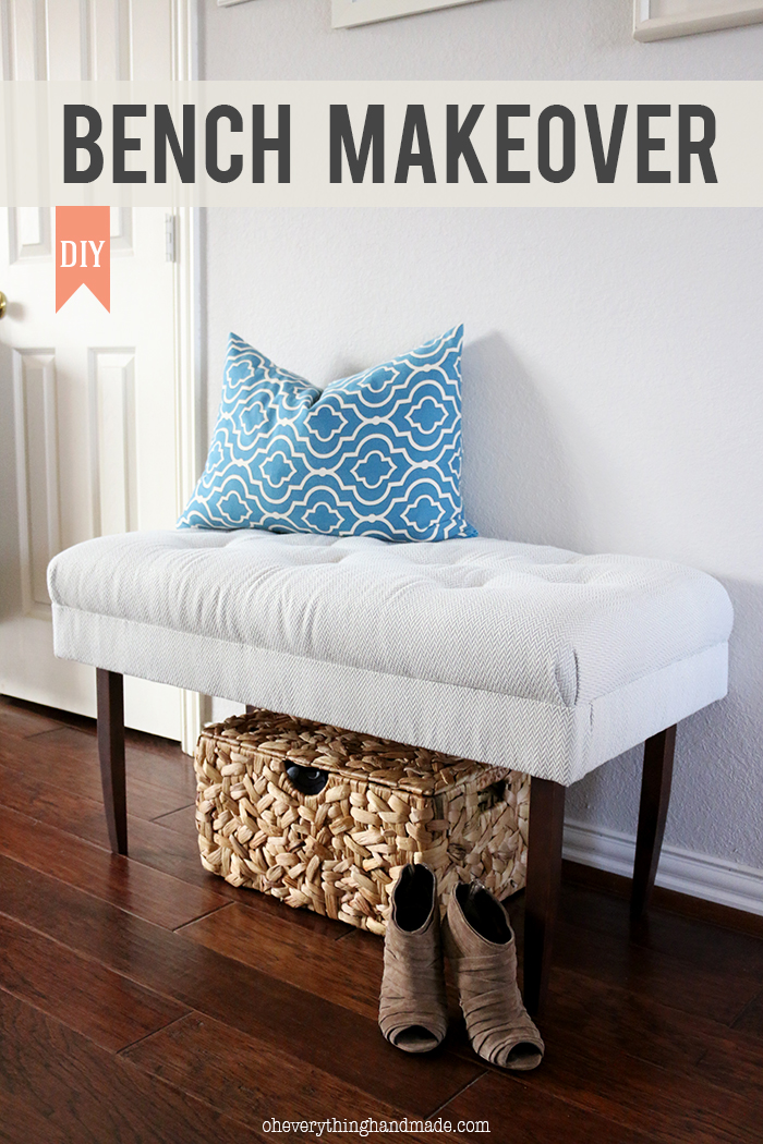 Entryway ottoman bench design