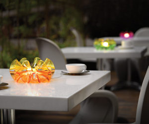 Beautiful Moon Glass Sink By Glass Design · Create A Romantic Atmosphere  With Flamenca LED Lamp