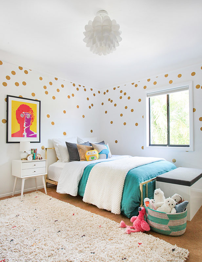 Year Girl Room Ideas Black White And Blue