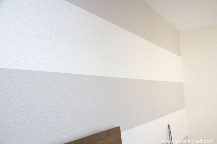 How to paint striped walls