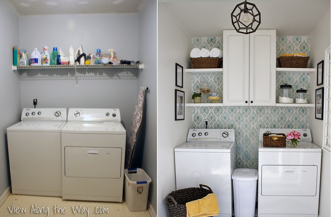 6 laundry room reveals to inspire your next makeover for Decorate a laundry room