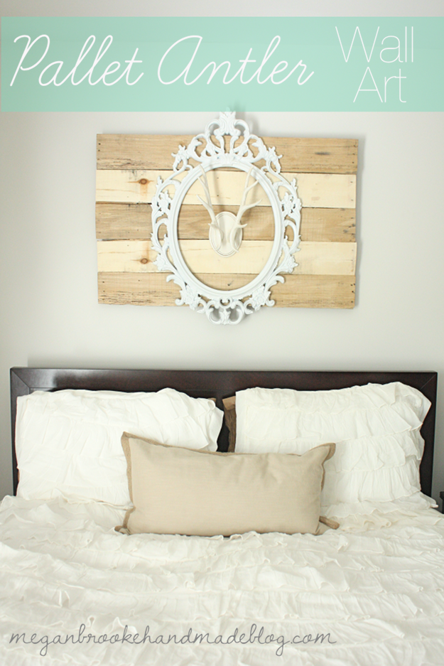 Pallet antler wall art